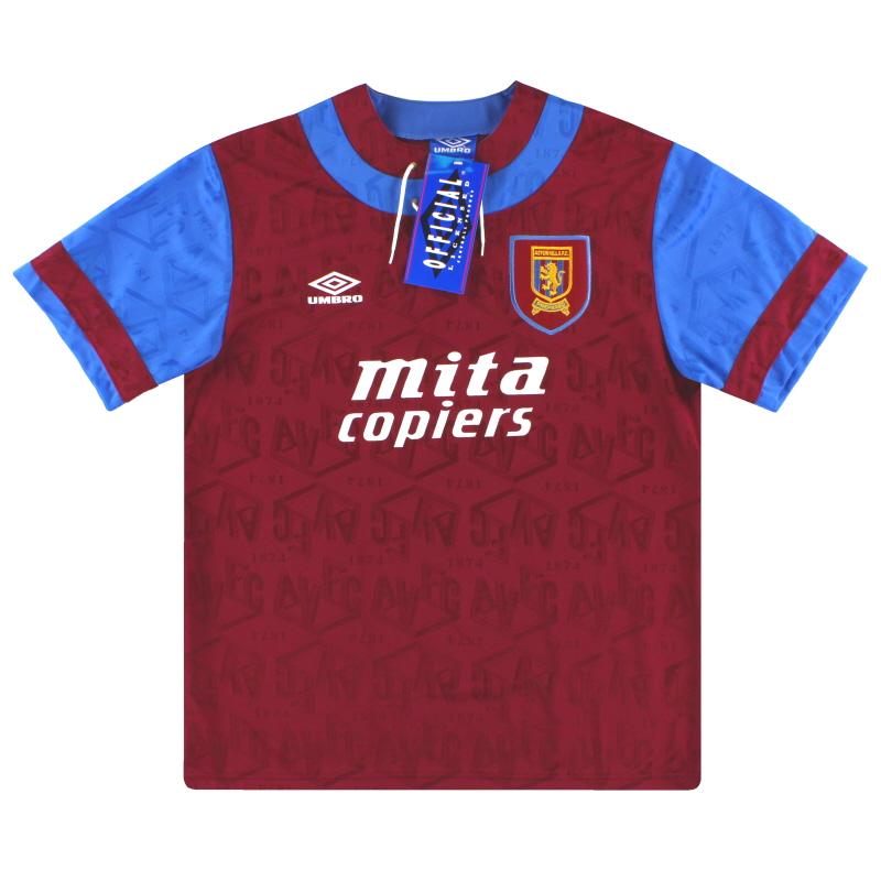 1992-93 Aston Villa Umbro Home Shirt *BNIB* XL