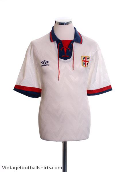 1992-93 Cagliari Away Shirt L
