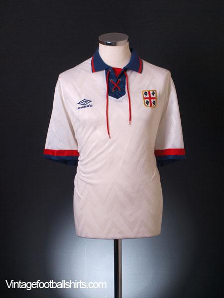 1992-93 Cagliari Away Shirt *Mint* XL