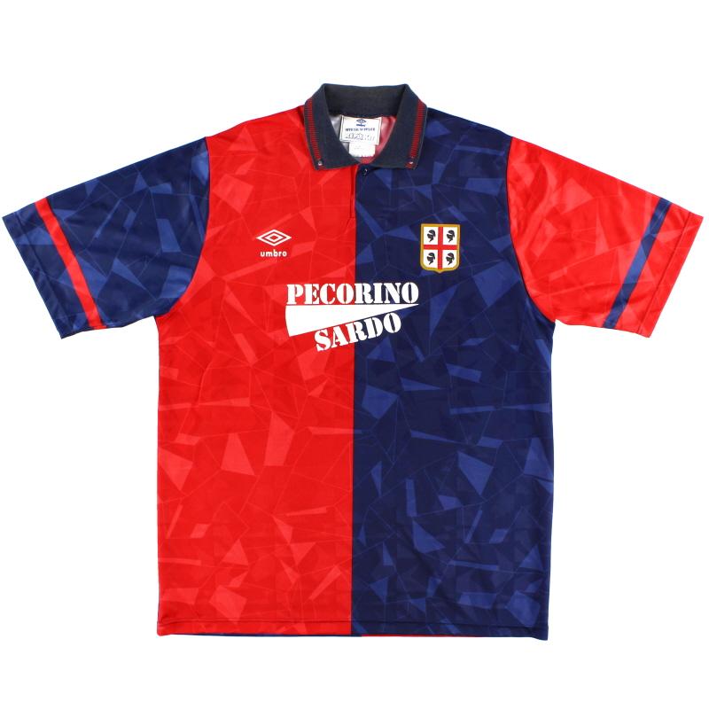 1992-93 Cagliari Home Shirt L