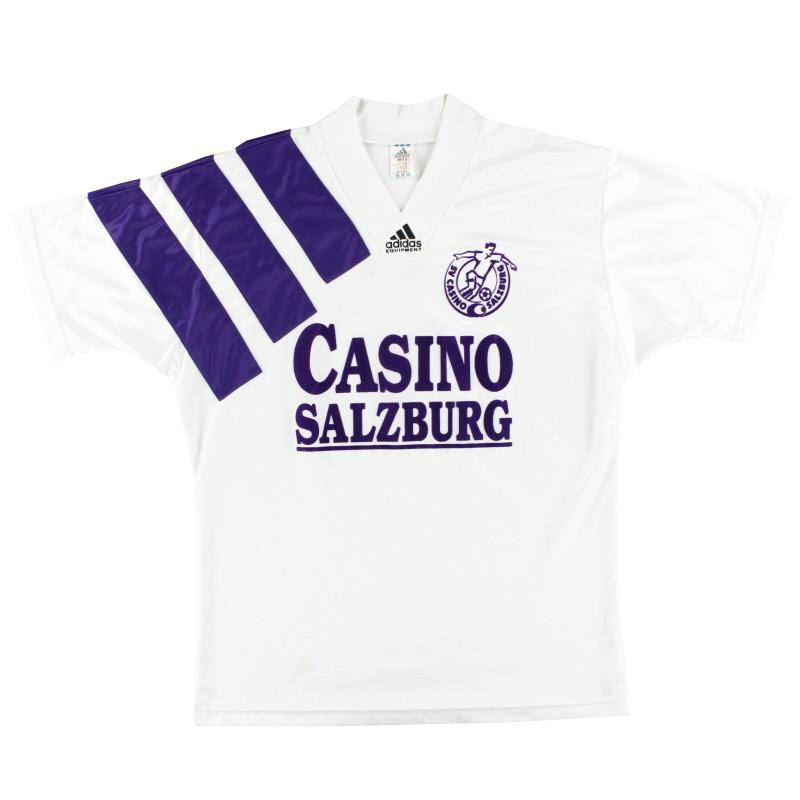 1992-93 Casino Salzburg adidas Home Shirt L