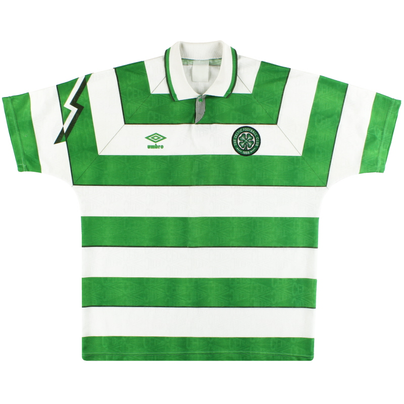 1992-93 Celtic Umbro Home Shirt XL