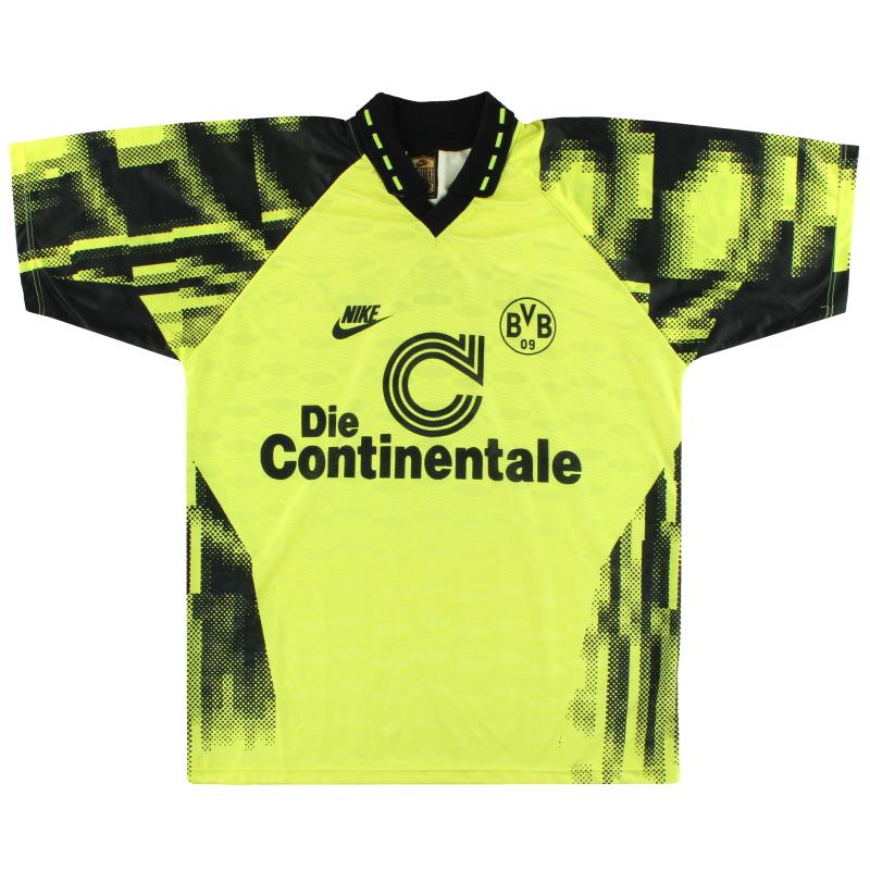 1992-93 Dortmund Nike Home Shirt L