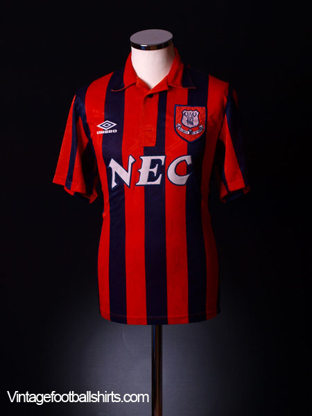 1992-93 Everton Away Shirt L