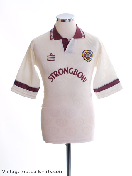 1992-93 Hearts Away Shirt S