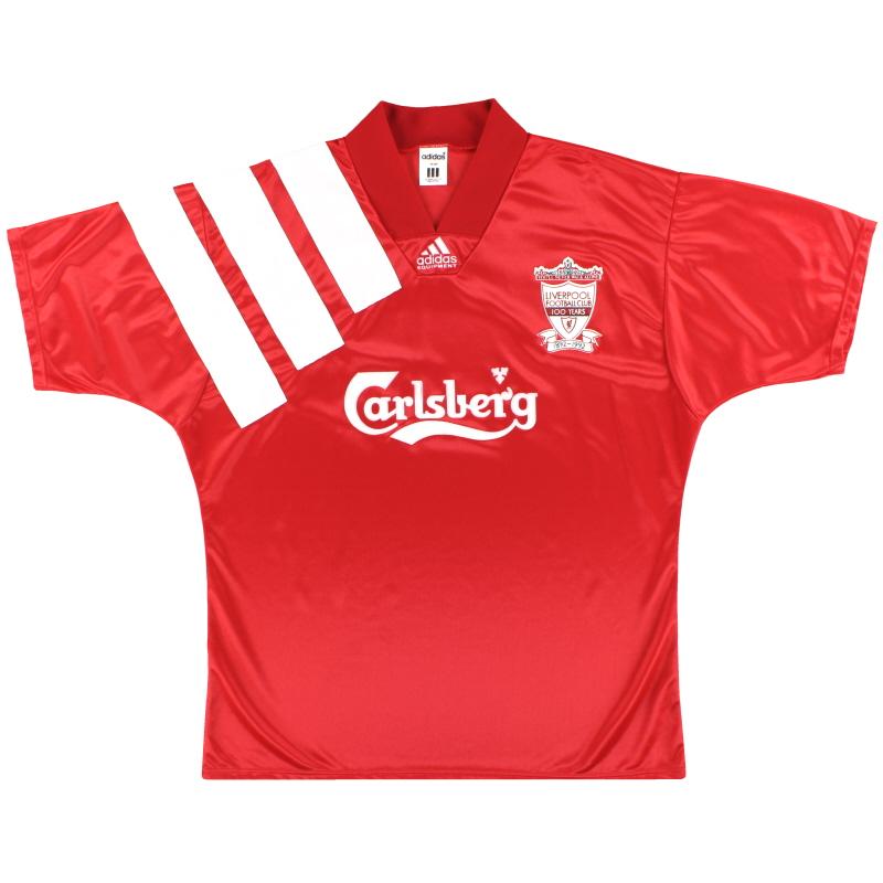 1992-93 Liverpool adidas Centenary Home Shirt *Mint* L/XL - 301424