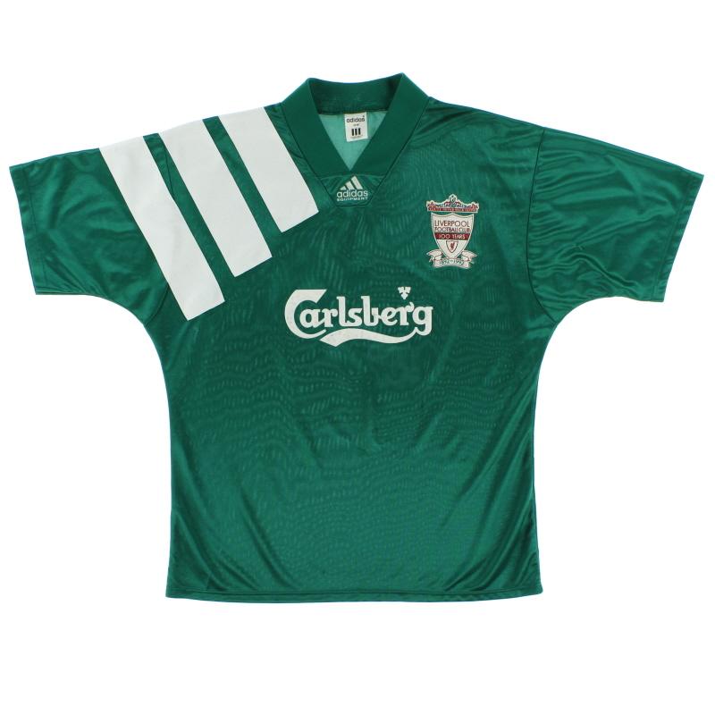 1992-93 Liverpool adidas Centenary Away Shirt *Mint* L - 300920
