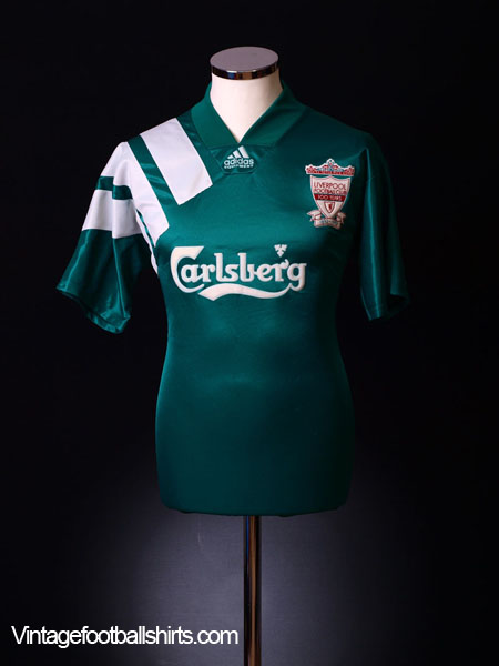 1992-93 Liverpool Centenary Away Shirt *Mint* L