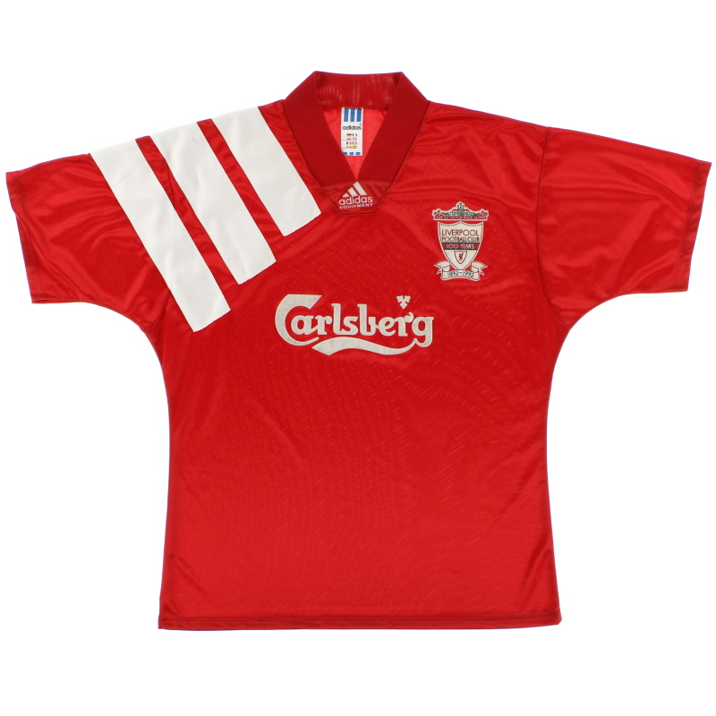 1992-93 Liverpool Centenary Home Shirt *Mint* L - 301424