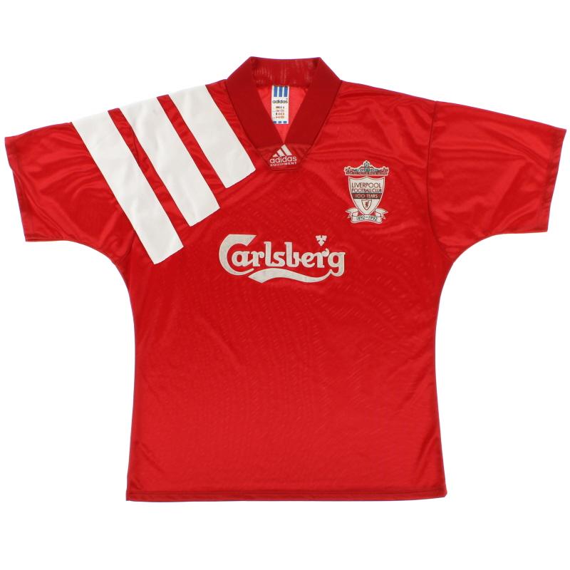 1992-93 Liverpool Centenary Home Shirt L - 301424