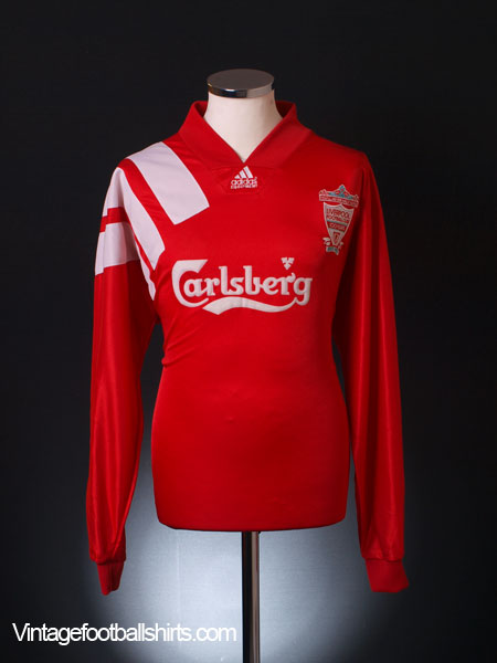 1992-93 Liverpool Centenary Player Issue Home Shirt L/S XL