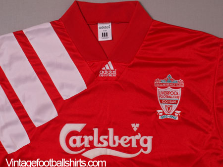 pretty nice 2ed75 ffe2e 1992-93 Liverpool Centenary Player Issue Home Shirt L/S XL ...