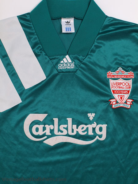 91d2b4995 1992-93 Liverpool Centenary Player Issue Away Shirt L S XL for sale