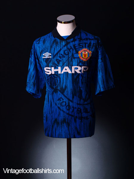 1992-93 Manchester United Away Shirt S for sale