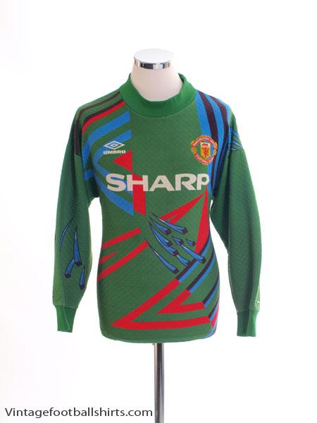 wholesale dealer d6081 09684 1992-93 Manchester United Goalkeeper Shirt #1 S for sale