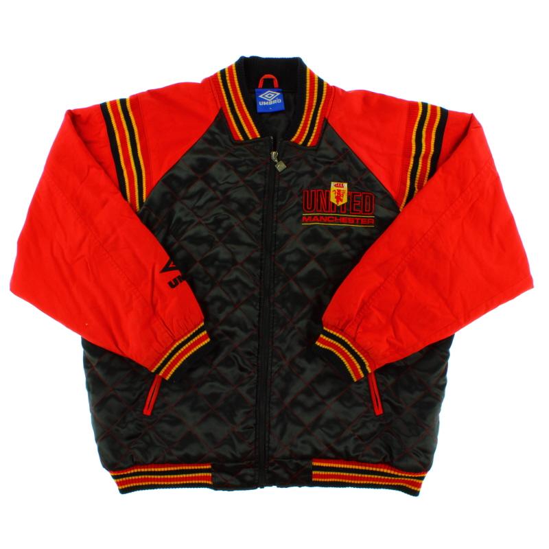 1992-93 Manchester United Umbro Bomber Jacket L