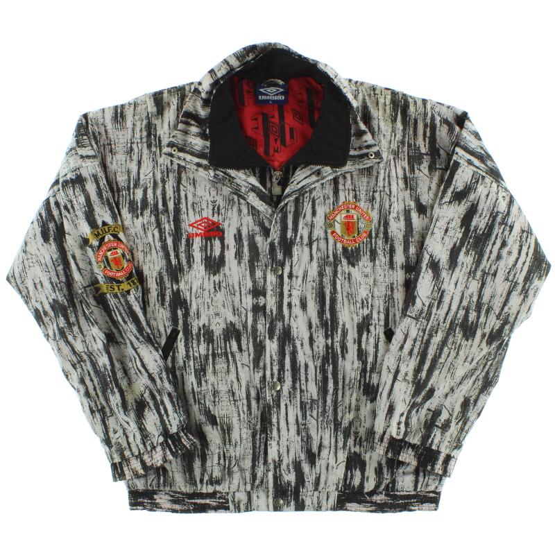1992-93 Manchester United Umbro Woven Presentation Jacket L