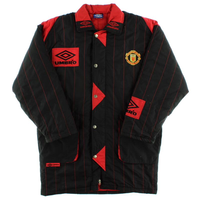 1992-93 Manchester United Umbro Padded Bench Coat *As New* L