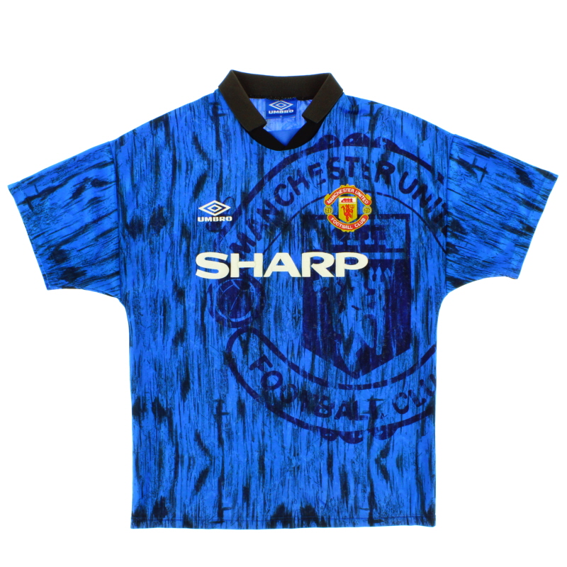 1992-93 Manchester United Umbro Away Shirt S