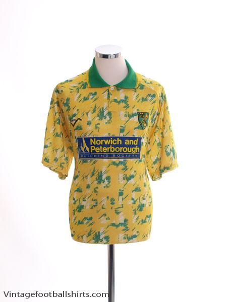 1992-93 Norwich City Home Shirt L
