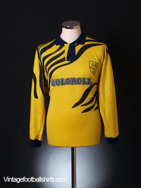 1992-93 Preston Match Worn Away Shirt #8 L/S L