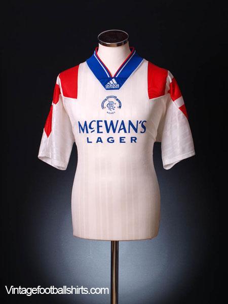 1992-93 Rangers Away Shirt L for sale