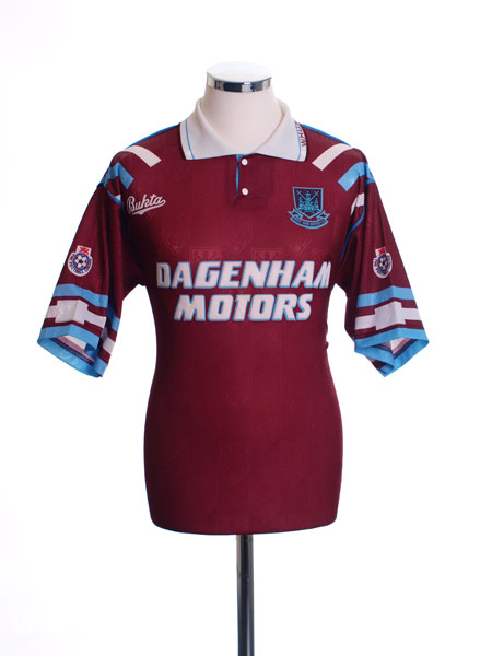 1992-93 West Ham Home Shirt S