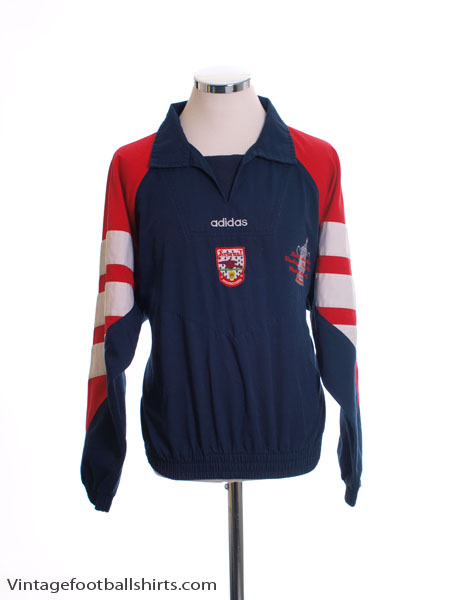 1992-94 Arsenal 'FA Cup Winners' adidas Drill Top M
