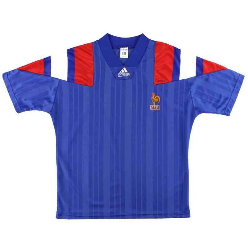 1992-94 France adidas Home Shirt M/L
