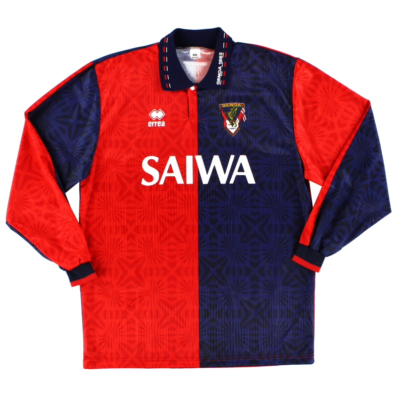 1992-94 Genoa Home Shirt L/S *Mint* XL