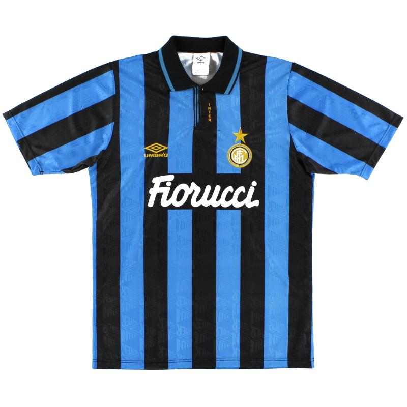 1992-94 Inter Milan Match Issue Home Shirt #18 S