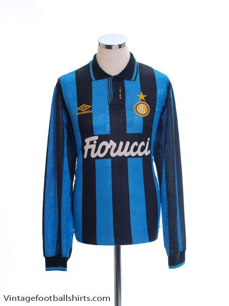 1992-94 Inter Milan Player Issue Home Shirt L/S XL
