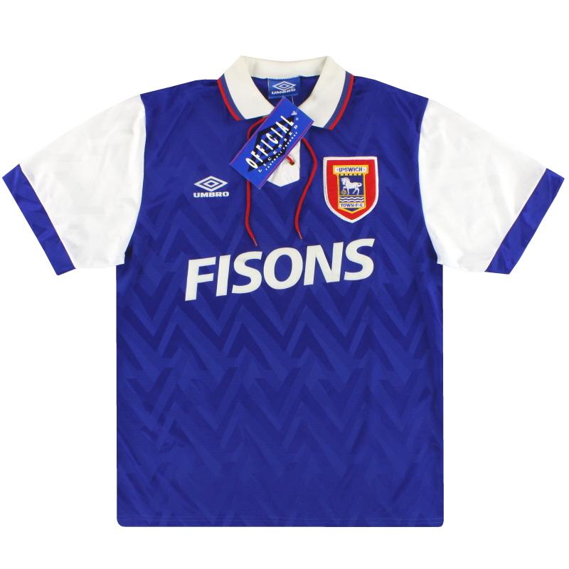 1992-94 Ipswich Umbro Home Shirt *BNIB*  - 726420