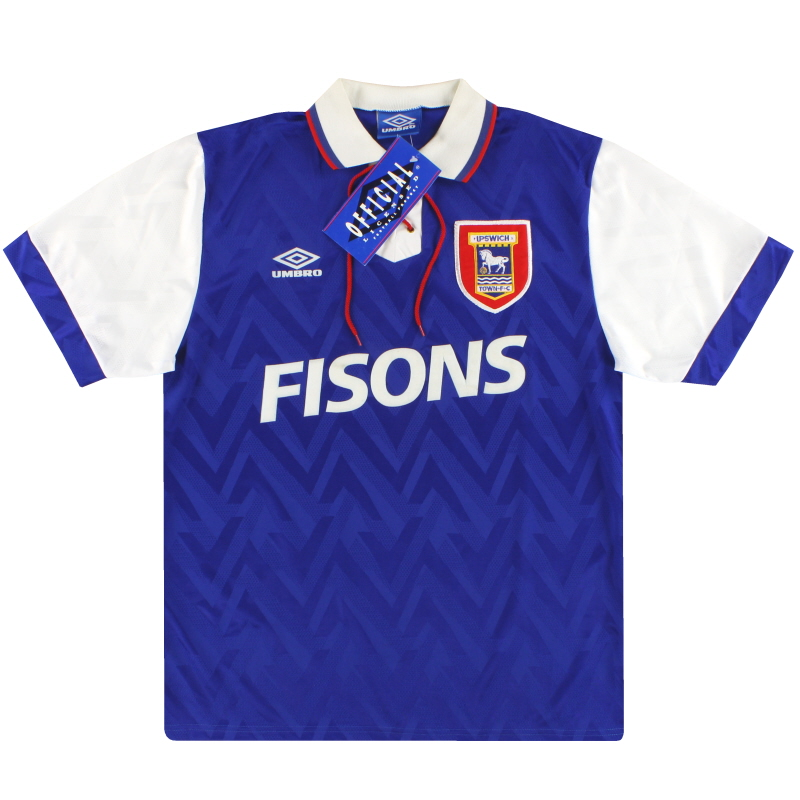 1992-94 Ipswich Umbro Home Shirt *w/tags* XL