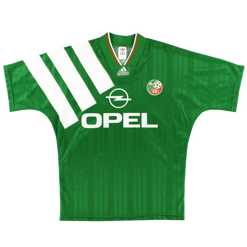 1992-94 Ireland adidas Home Shirt L - 029560