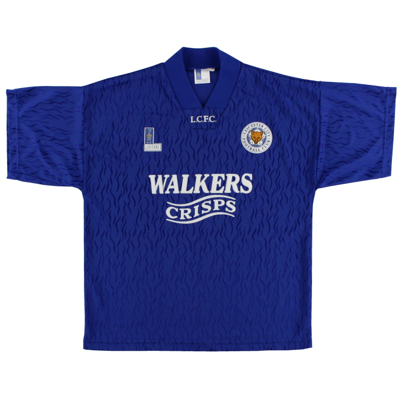 1992-94 Leicester Home Shirt L