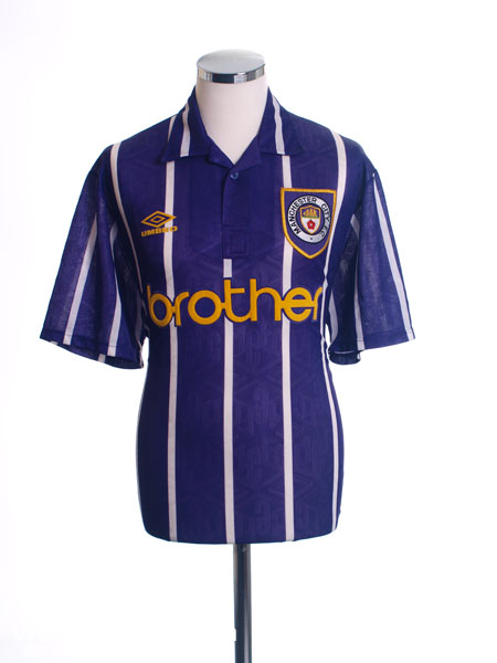 1992-94 Manchester City Away Shirt *Mint* L