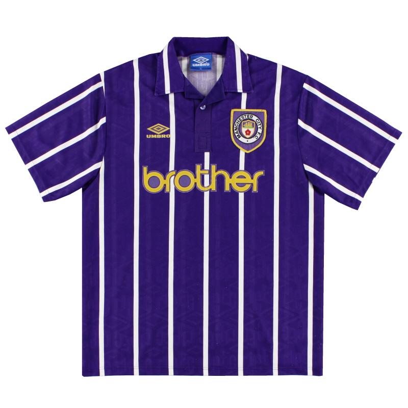 1992-94 Manchester City Umbro Away Shirt XXL