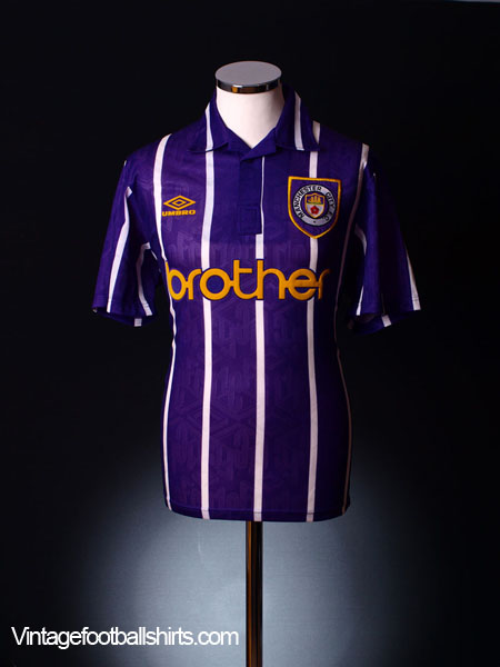 1992-94 Manchester City Away Shirt XL