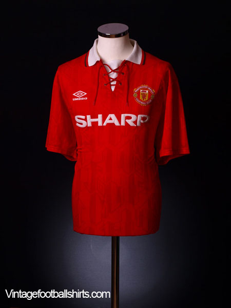 1992-94 Manchester United Home Shirt L.Boys