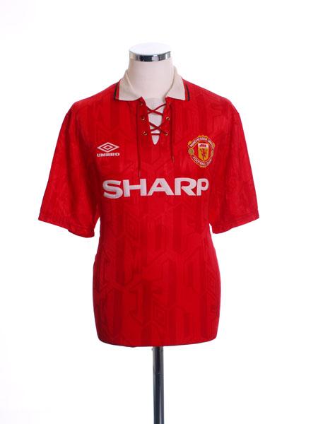 1992-94 Manchester United Home Shirt L.Boys