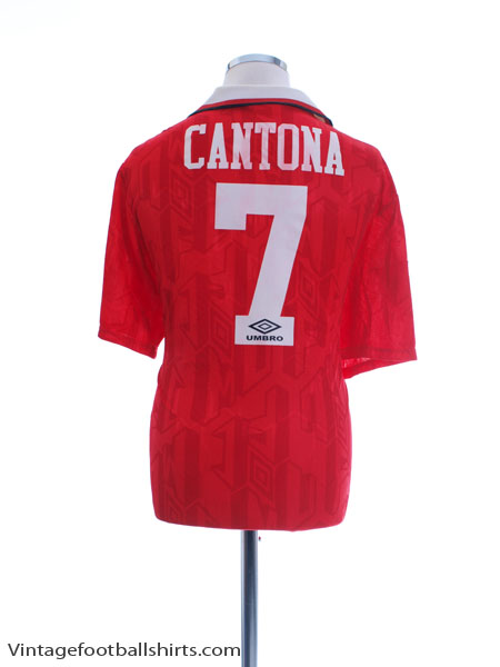 1992-94 Manchester United Home Shirt Cantona #7 XL