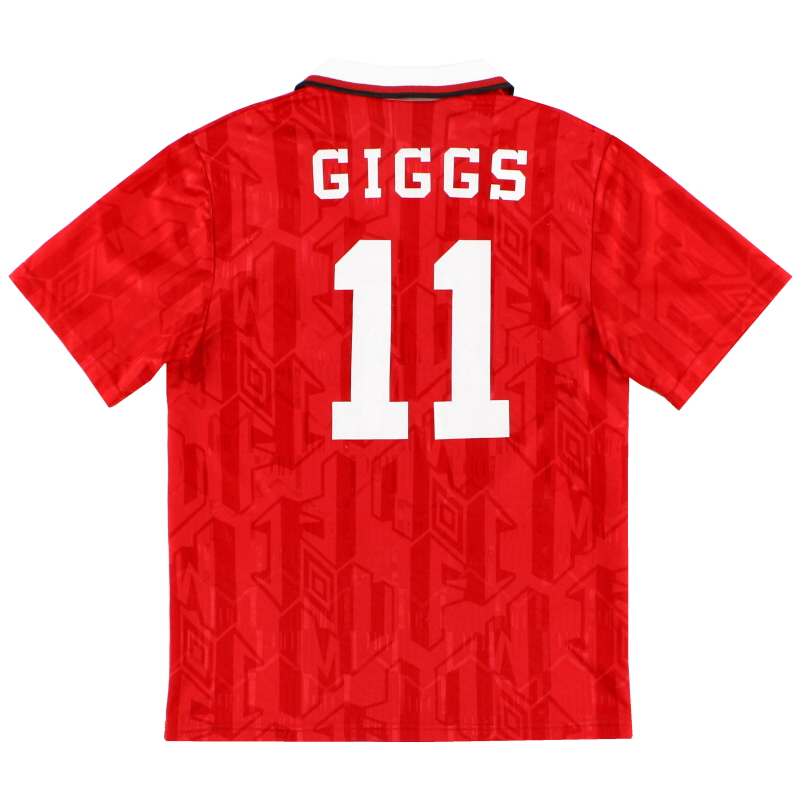 1992-94 Manchester United Home Shirt Giggs #11 S