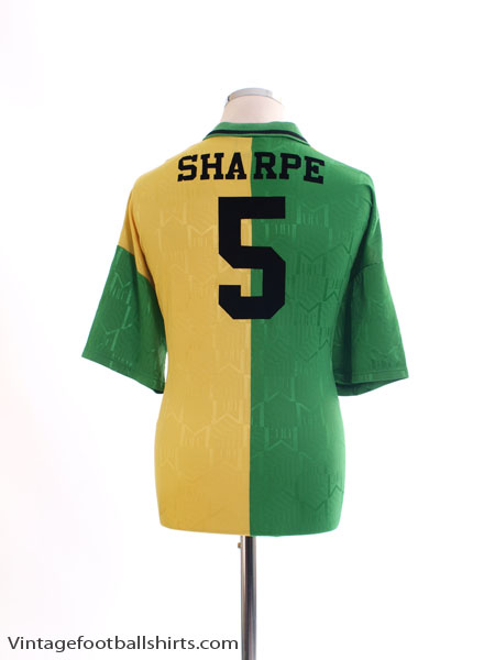 1992-94 Manchester United Newton Heath Third Shirt Sharpe #5 XXL