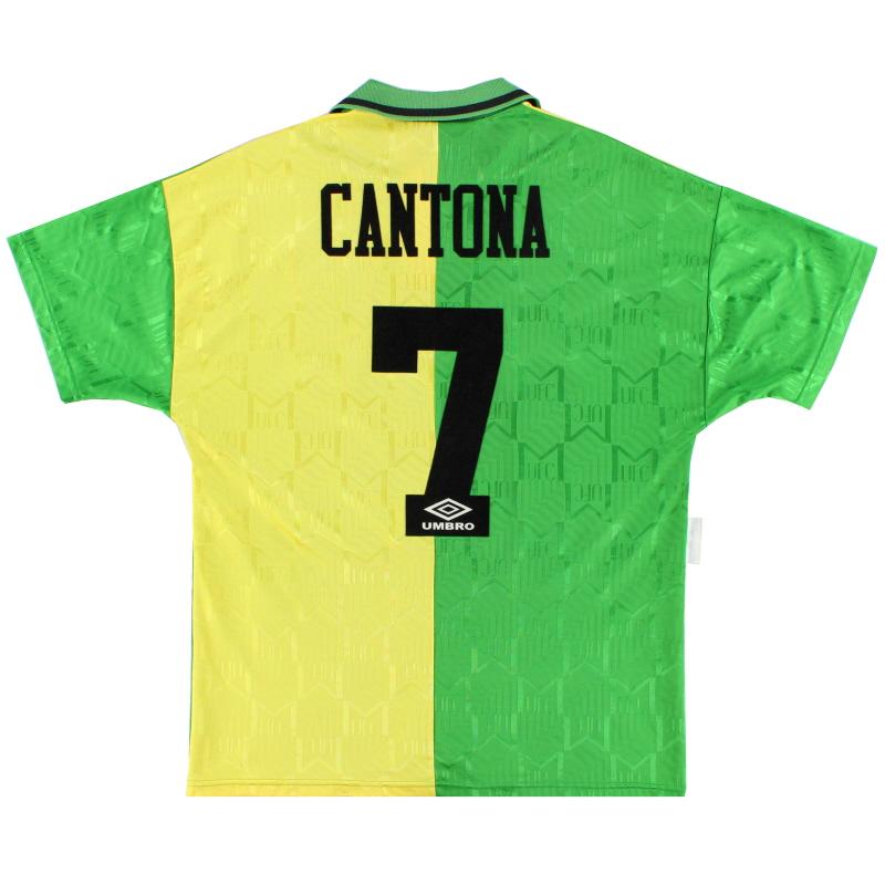 1992-94 Manchester United Newton Heath Third Shirt Cantona #7 L
