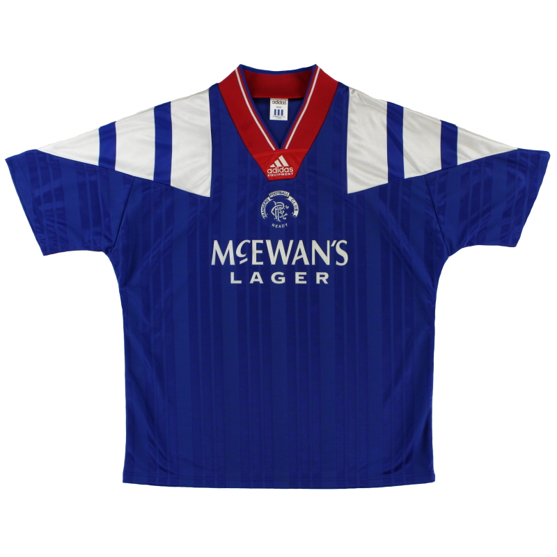 1992-94 Rangers adidas Home Shirt M