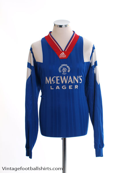 1992-94 Rangers Player Issue Home Shirt L/S XL