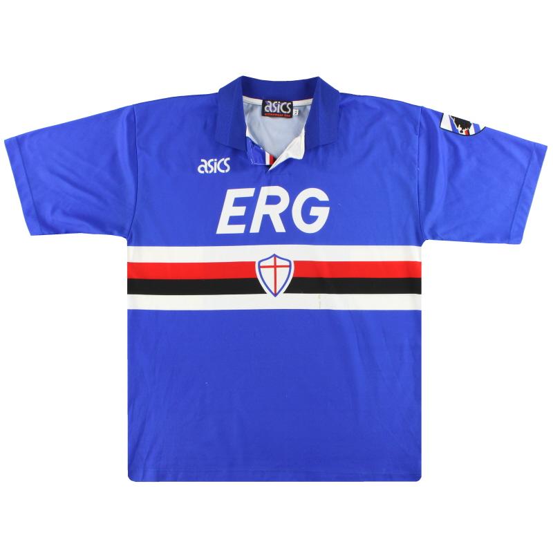 1992-94 Sampdoria Asics Home Shirt XL