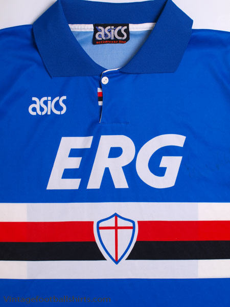 357748889451db 1992-94 Sampdoria Home Shirt L for sale