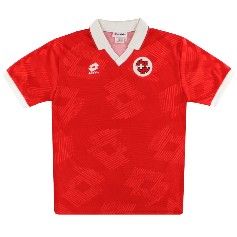 1992-94 Switzerland Lotto Home Shirt XL